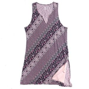 Gaiam Yoga Workout Floral Print Tunic Tank Top